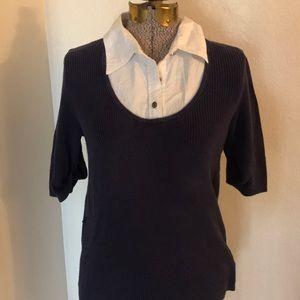Michael kors sweater/shirt combo